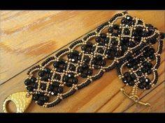 Beaded Jewelry Beaded Bracelet - FREE Photo Tutorial by Vladlena, no text Beaded Braclets, Beaded Bracelet Patterns, Seed Bead Bracelets, Embroidery Bracelets, Bracelet Designs, Silver Bracelets, Jewelry Bracelets, Beaded Bracelets Tutorial, Beaded Anklets