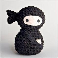 Richmond Craft Mafia - off the record.: Search results for ninja (pattern from Creepy Cute Crochet) Cute Crochet, Crochet Dolls, Knit Crochet, Crochet Geek, Filet Crochet, Amigurumi For Beginners, Crochet For Beginners, Geek Crafts, Yarn Crafts