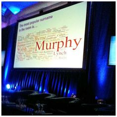 What's the most popular surname in the room? As we are in Ireland you guessed it the most popular name amongst the attendees was 'Murphy' Krishna, Most Popular Names, I Have Spoken, Surnames, Ladies Day, Latest Fashion For Women, Twitter, Business Women, Ireland