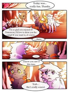 Pg Next Monday Pg Pg SR Comic: *Redone* Original version (for those who still want to read/compare t. Warrior Cats Comics, Warrior Cat Memes, Warrior Cat Drawings, Warrior Cats Fan Art, Cat Comics, Cat Reading, Anime Wolf, Book Memes, How To Show Love