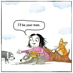 Moms Are The Best – Red and Howling I Love Dogs, Puppy Love, Animals And Pets, Cute Animals, Funny Animals, Crazy Dog Lady, Cartoon Dog, My Animal, Dog Mom
