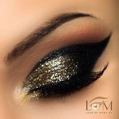 gold glitter and black