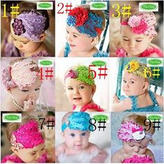 2015 Christmas Gifts Fashion Baby Girl Toddler Infant Elastic Feather Hairband Headbands Baby Hair Band Flower Accessories Lots