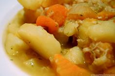Lapskus-Norwegian soup traditionally made using last nights left overs, Lapskaus uses potatoes as a thick base with hearty, winter vegetables and meat.  The idea Lapskaus is 'anything goes', so you can be guarantee that your soup will be an orginal masterpiece every time.