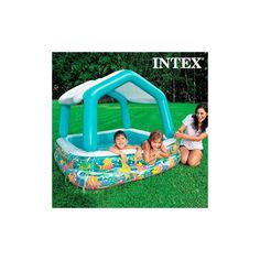Intex Sun & Shade Inflatable Kids Swimming Pool W/ Canopy + Quick Fill Pump : Target Baby Pool, Kid Pool, Chur, Water Toys, Water Play, Pool Water, Lugano, Lausanne, Children Swimming Pool