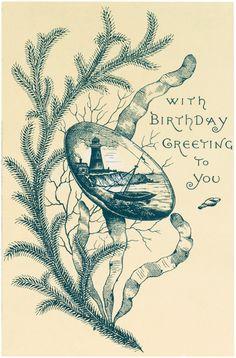 Nautical Birthday Image - Free from Graphics Fairy