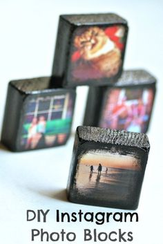 DIY Instagram Photo Blocks | Shelterness love this! great for putting put pics of the pups on our desks!
