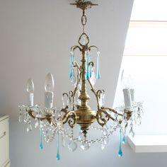 araña antigua.vintage chandelier