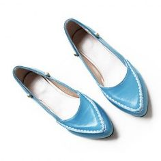 $11.45 Casual Women's Flat Shoes With Candy Color and Stitching Design