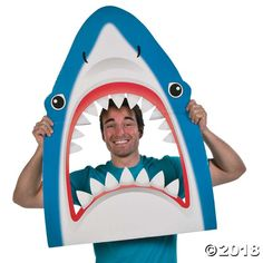 Stick your head between this shark's jaws for a fantastic photo op! Place this cardboard Shark Photo Prop at your DIY photo booth for guests to take some ...