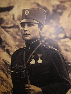 """[Milunka Savic] fought for Serbia through World War I, receiving honors from several different governments for her distinguished service. Some believe her to be the most decorated female in the history of warfare. She was decommissioned in 1919 and fell into a life of relative obscurity and hardship. She died in Belgrade in 1973 at the age of 84."""