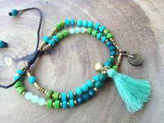 Dainty Bead Bracelet Small Bead Tassel Bracelet Beaded