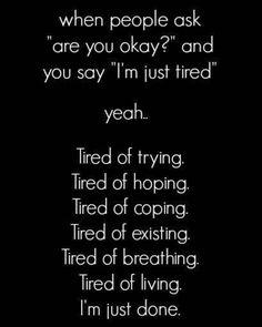Bitte lass mich einfach aufhören zu lügen und zu leiden...
