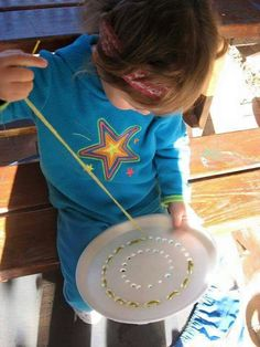 Fine motor sewing - can make this more complicated for older kids too.