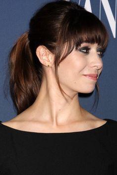 ponytail with fringe hairstyle