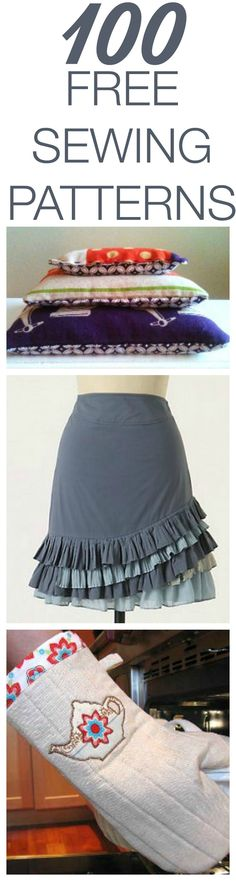 100 Free Sewing Tutorials