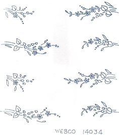 Dainty Flower Sprigs Vintage 1930s 1940s Iron on Embroidery Transfer 144 | eBay