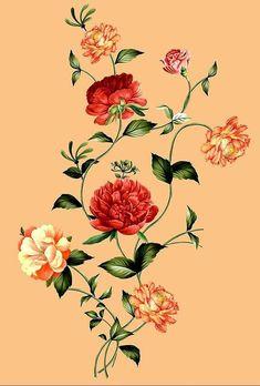 Lotus Flower Art, Flower Art Drawing, Floral Drawing, Botanical Flowers, Botanical Art, Black And White Flower Tattoo, Blue Floral Wallpaper, Flower Art Images, Illustration Blume