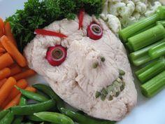 Monster Dip Halloween Veggie Tray