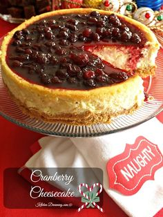 Cranberry Cheesecake | kitchenDreaming.com | #Holiday #cranberry #cheesecake #Christmas #Thanksgiving #entertaining