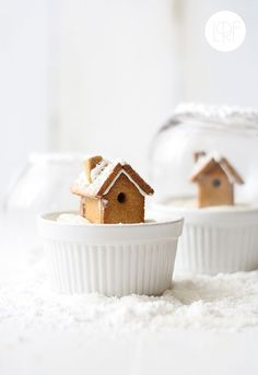 Even cuter and tinier? Edible snowglobes. | 21 Ways To Decorate A Small Space For The Holidays  (via BuzzFeed)