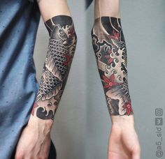 Tattoo Ivan Sergeev - tattoo's photo In the style Oriental, Asian, Fi Irezumi Tattoos, Tatuajes Irezumi, Forarm Tattoos, Leg Tattoos, Body Art Tattoos, Tattoos For Guys, Japanese Forearm Tattoo, Japanese Tattoo Art, Japanese Tattoo Designs