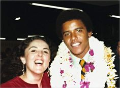 Barack Obama and his mother, Ann, at his high school graduation. - ANYONE really can become president of the USA. thank you for being an inspiration mr president!