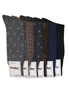 Mens Pattern Dress Socks Value Assorted 6-Pack