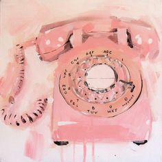 Pink Telephone by James Paterson Art, via Flickr