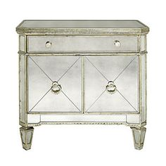 Borghese Mirrored Side Chest is a lovely accent to you bedroom. $499.00