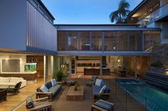 The ultimate entertainers house in Vaucluse | Designhunter - architecture & design blog