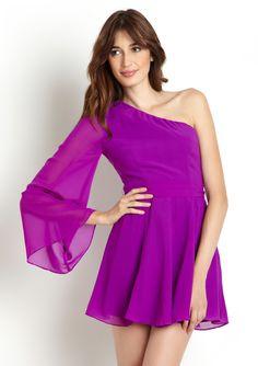 Ark & CO ~ Long Sleeve One-Shoulder Dress {ideeli.com}