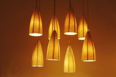 6 ceiling lights made of porcelain  with by rachelnadlerceramics, $456.00