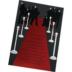 Choose a creative red carpet invitation to match your Hollywood prom theme.