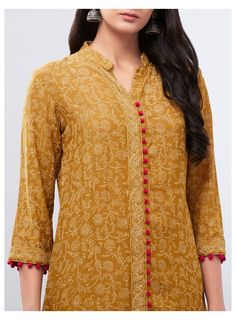 Printed Kurti Designs, Silk Kurti Designs, Salwar Neck Designs, Churidar Designs, Neck Designs For Suits, Kurta Neck Design, Neckline Designs, Sleeves Designs For Dresses, Kurta Designs Women