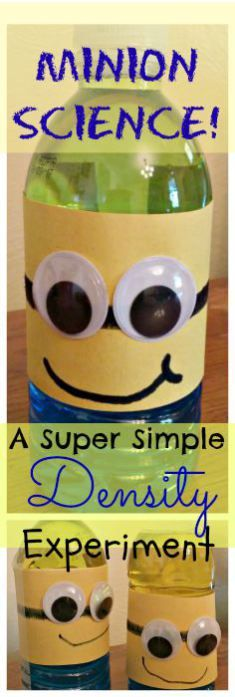 www.makethistheday.com.   Minion Science: A Super Simple Density Experiment for Kids of All Ages!
