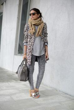 lovely Pepa gray bellow #animalprint #sunglasses #metallicshoes