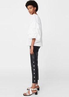 Puffed sleeves blouse - Women   MANGO USA