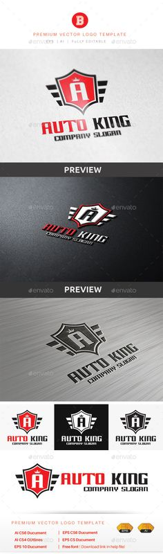 Auto King - Logo Design Template Vector #logotype Download it here: http://graphicriver.net/item/auto-king/9133991?s_rank=1326?ref=nexion