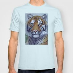 Tiger  CC118 bis T-shirt by S-Schukina - $22.00