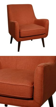 Get inspired to create a veritable vintage collage with the Amity Arm Chair as the star. It's retro profile and tapered legs invoke only the best memories of the 1960s, and a rich persimmon fabric upho...  Find the Amity Arm Chair, as seen in the Check Into The Hotel Lincoln Collection at http://dotandbo.com/collections/check-into-the-hotel-lincoln?utm_source=pinterest&utm_medium=organic&db_sku=114955