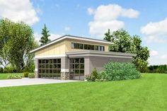 Contemporary Garage Plan - 69618AM thumb - 11 #shedplans 8x12 Shed Plans, Diy Shed Plans, Storage Shed Plans, Design Garage, Glass Garage Door, Cool Garages, Garage Addition, Garage House Plans, Rv Garage
