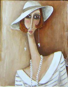 deco art by quenalbertini - Deco painting, Veronique Didierlaurent-via didierlaurentveronique...