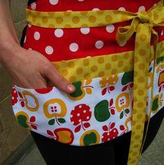 Profesor utilidad delantal con bolsillos limitada rojo   Etsy