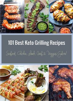 Baby it's hot outside!!! Here's a collection of over one hundred of the best keto grilling recipes I could find to get you through the dog days of Summer!