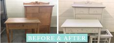 Vintage Bedroom Sets, White Chalk Paint, Small Spaces, Bones, Cool Stuff, Storage, Wood, Modern, Painting
