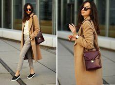 thefashioncuisine | missguided camel coat + zara trousers