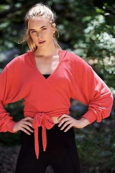Hang Loose Wrap from Free People! Free People Store, Working Mother, Fitness Studio, Yoga Tops, Active Wear, Personal Style, Bell Sleeve Top, Leather Jacket, My Style