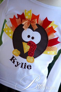 Thanksgiving turkey girls shirt