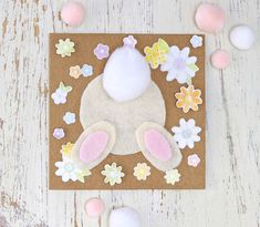 Easter wouldn't be Easter without a bunny or two dotted around, and this super fluffy bunny rabbit card will be sure not to disappoint. Learn how to make your own with this how to.
